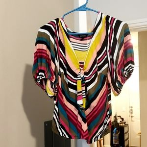 contemporary top by Express. Multi colored